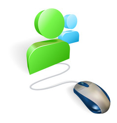 mouse and social media icon concept vector image