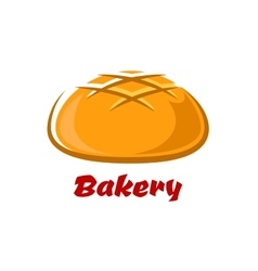 Round bread with baked crust vector image vector image