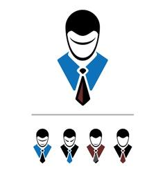 set of cartoon office worker vector image vector image