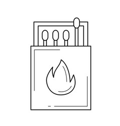 matches line icon vector image