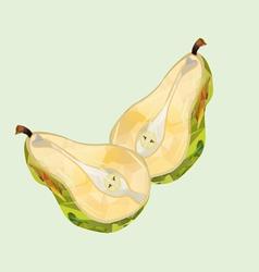 pear halves polygonal vector image vector image