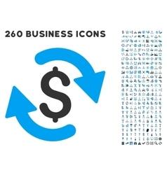 Refresh Money Balance Icon with Flat Set vector image vector image