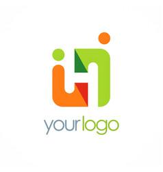 square partner people logo vector image