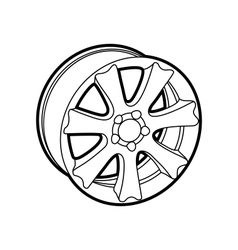 Wheel on white vector