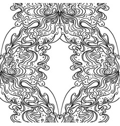 abstract black and white seamless pattern art vector image