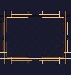Art deco frame vintage linear border design a vector