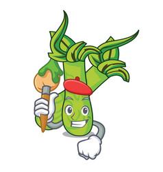 Artist wasabi character cartoon style vector