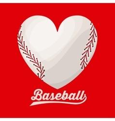 baseball league design vector image