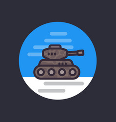 battle tank flat style icon vector image