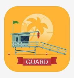 Beach Lifeguard Shack vector image