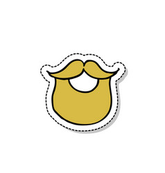 beard doodle icon vector image
