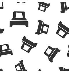 bed icon seamless pattern background sleep vector image