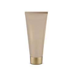 Beige tube mock-up for cream vector