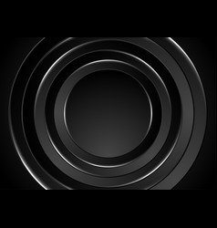 Black and grey abstract hi-tech futuristic vector