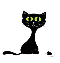 Black kitten vector image