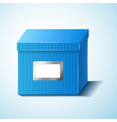 Blue box isolated vector