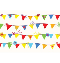 Bunting flags seamless pattern vector image