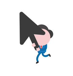 businessman character running and holding black vector image