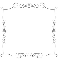 Calligraphic borders frames vector