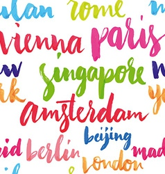 Cities of the world seamless pattern vector image