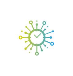 clock share logo icon design vector image
