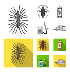 Cockroach and equipment for disinfection vector