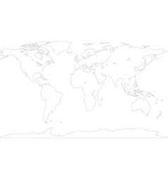 Contour map vector image