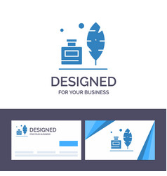 Creative business card and logo template adobe vector
