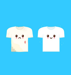 Cute sad dirty t-shirt vector