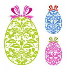 Easter ornaments eggs vector image