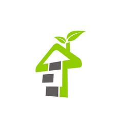 Eco home building vector