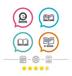 electronic book signs e-book symbols vector image