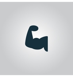 fitness arm icon vector image