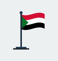 flag of sudanflag stand vector image