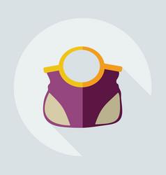 Flat modern design with shadow icons handbag vector