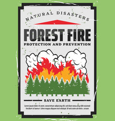 Forest trees firefighting nature protection vector