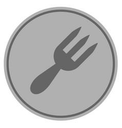 fork silver coin vector image