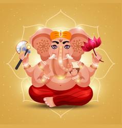 Ganesha indian god image vector