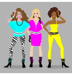 girls disco style vector image