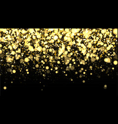 gold blurred border on black background vector image