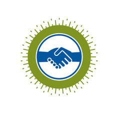 handshake two hands business deal and friendship vector image