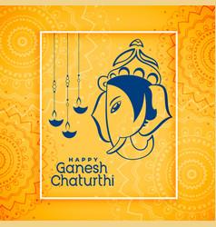 Happy ganesh chaturthi festival celebration vector