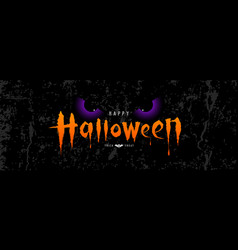 happy halloween orange message with spooky vector image