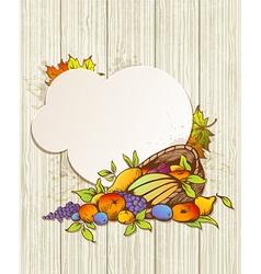 Harvest background vector
