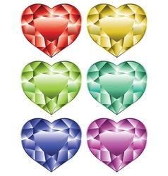 Heart Shaped Diamonds vector