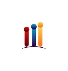 Human stats logo vector