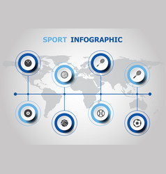 infographic design with sport icons vector image