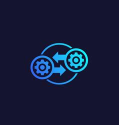 Integration optimization icon vector