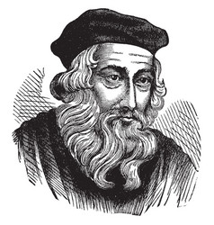 john wycliffe vintage vector image