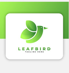 leaf bird logo design inspiration vector image